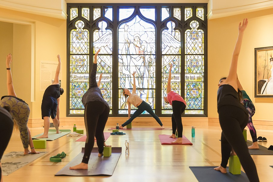 Yoga at the museum - IMAGE COURTESY OF NEWFIELDS