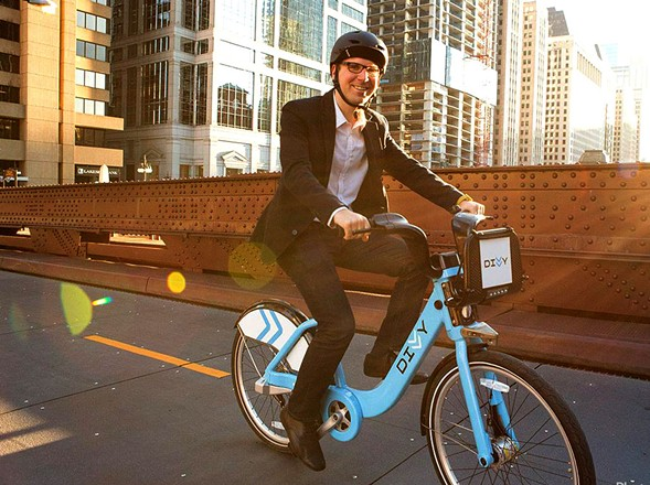 Former Divvy GM Elliot Greenberger left for Lyft in 2017. Now Lyft is buying Divvy's operator. - CHICAGO SUN-TIMES