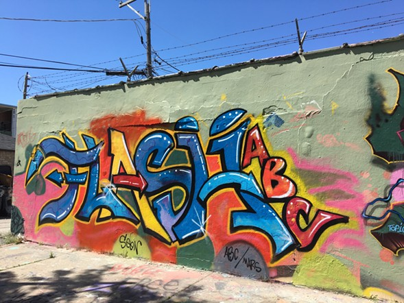 Flash's tag on Project Logan's Medill Avenue section - LEOR GALIL