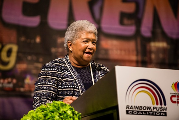 Dorothy Leavell at the Rainbow Coalition's Women's Leadership Luncheon on Friday - JAMES FOSTER/FOR THE SUN-TIMES