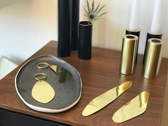 Brass and black enamel pieces by Buenos Aires-based Sibilia - ISA GIALLORENZO