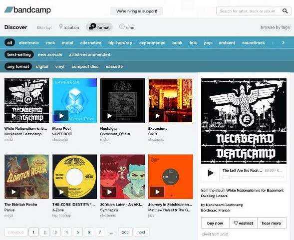 Evidence that Neckbeard Deathcamp at least briefly had the best-selling release on Bandcamp - COURTESY OF NECKBEARD DEATHCAMP