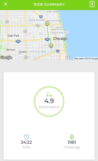 My Lime-S route from Fiesta Del Sol in Pilsen to Wicker Park Fest. The ride cost $8.25 for almost five miles. - RYAN SMITH