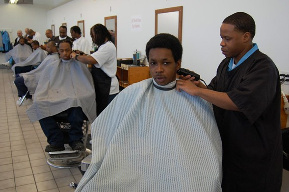 The barbershop run by inmates at Stateville Correctional Center is one of the few vocational opportunities in IDOC. - FRANK VAISVILAS/SUN-TIMES