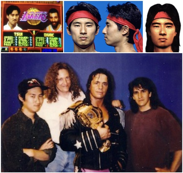 Tsui appeared in NBA Jam and Mortal Kombat and filmed WWF wrestlers in the making of Wrestlemania: The Arcade Game - COURTESY OF JOSH TSUI