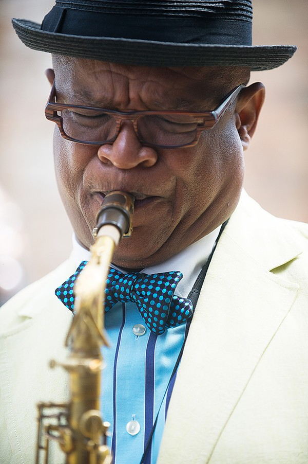 Saxophonist and composer Ernest Dawkins is one of the creative engines behind the epic composition Quantum Englewood. - MARC MONAGHAN