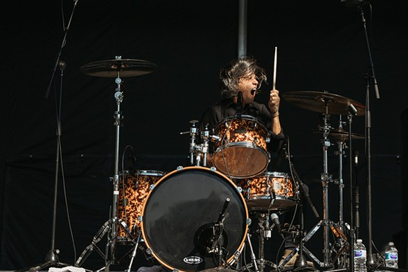 Avengers drummer Luis Illades - DANNY O'DONNELL
