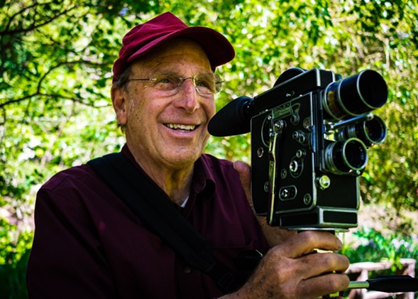 Nathaniel Dorsky shooting The Arboretum Cycle - DANIEL BOGDANIC