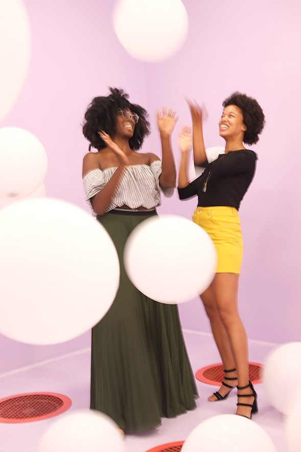Chelsea Frazier, 30, writer and scholar,  and Lauren Ash, founder and executive director of the well-being website Black Girl in Om - ISA GIALLORENZO