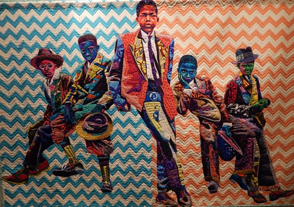 Bisa Butler, Southside Sunday Morning, at Claire Oliver Gallery - DEANNA ISAACS