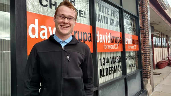 Just two years ago 19-year-old David Krupa was stumping for Trump. Now he's running for alderman as an independent - MAYA DUKMASOVA