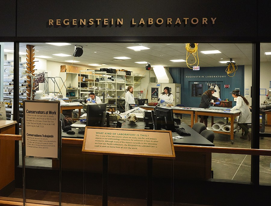 The conservation team for the Field Museum's Native American Journeys project cares for roughly 300 deinstalled cultural materials in the Regenstein Lab. - JOHN WEINSTEIN