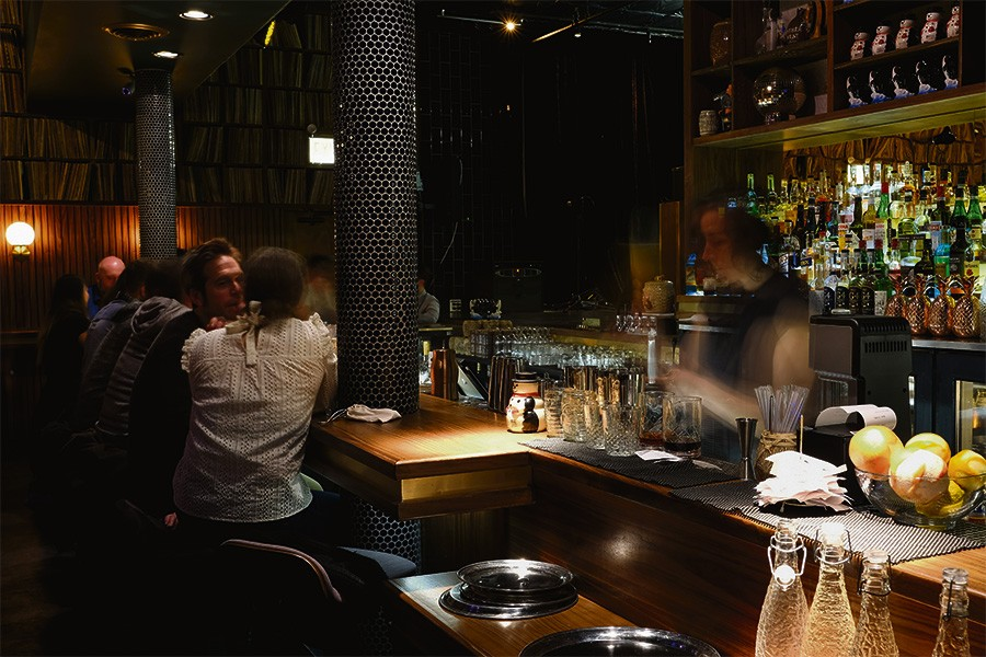 The door from the listening room to the bar is just out of sight to the left. - PINAR ISTEK