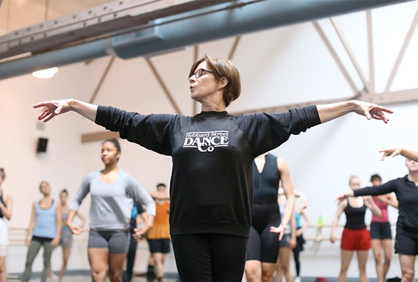 Claire Bataille teaching at the Lou Conte Dance Studio. - TODD ROSENBERG