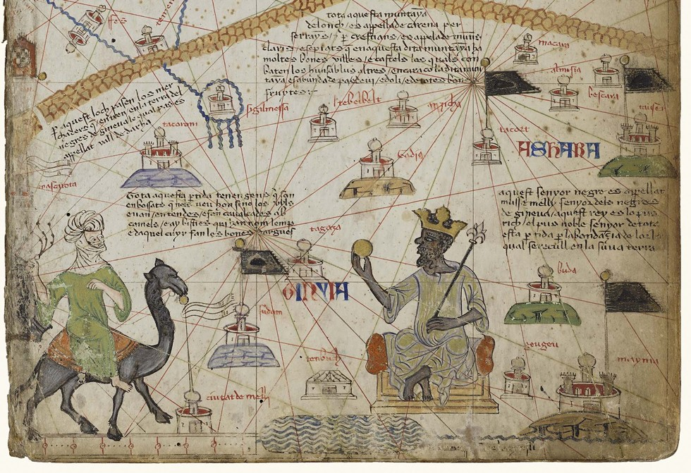 Detail of Mansa Musa from the Catalan Atlas - BIBLIOTHÈQUE NATIONALE DE FRANCE