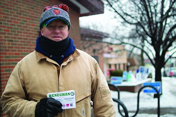 Tim Heneghan is campaigning to bring civility back to 41st Ward politics. - MAYA DUKMASOVA