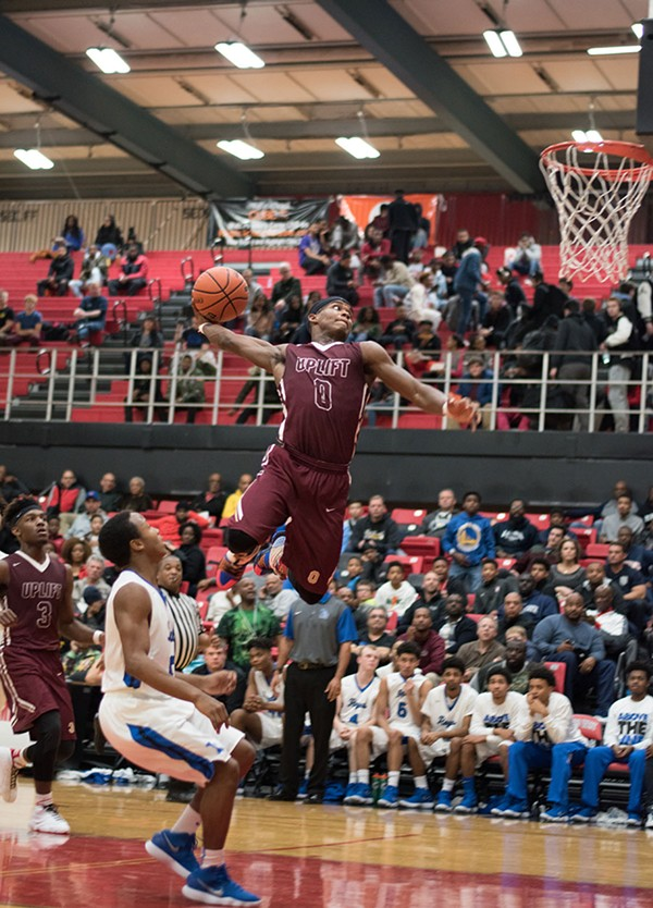 Jacobs dunks at the Proviso West Annual Holiday Tournament in December. - OLAJUWON CORE