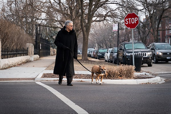 Toni Preckwinkle walks her dog, Don - COURTESY OF TONI PRECKWINKLE