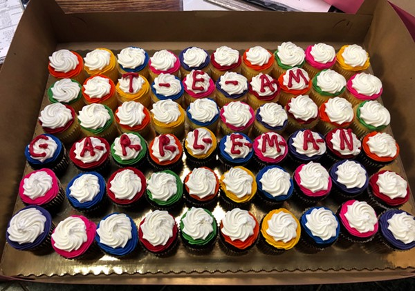 The Board of Elections ruled that these Team Cappleman cupcakes spell electioneering. - DANIELLE ELLIOTT