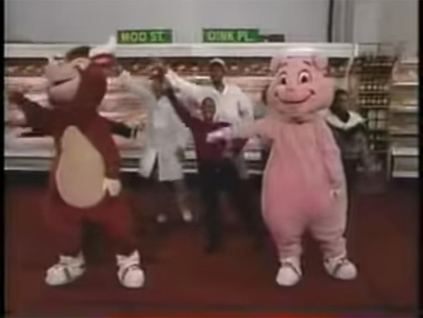 In the real world, alas, folks at Moo & Oink generally didn't do so much dancing.