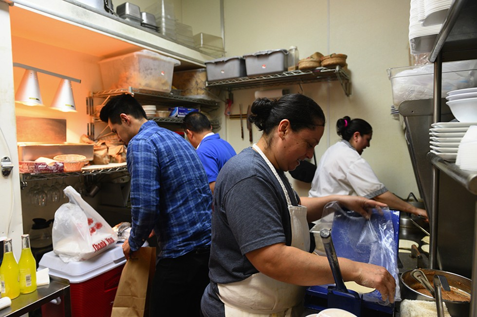 Taco Tuesday is the busiest night of the week for Buena Vista and requires everyone to work together to keep up with the orders. - GONZALO GUZMAN