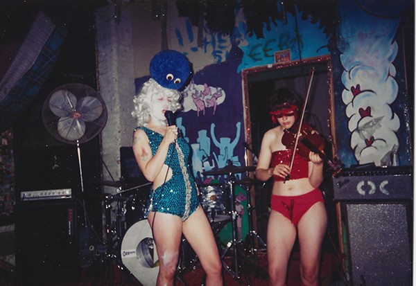 Rose (left) and Monica Boubou perform in Zeek Sheck at some point in the mid-1990s. - COURTESY OF JULIE POMERLEAU