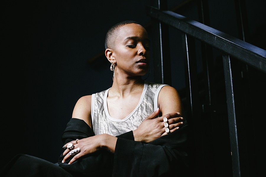 """Jamila Woods at the South Side Community Art Center, 3831 S. Michigan. Opened in 1940, the SSCAC was declared a """"national treasure"""" in 2017 by the National Trust for Historic Preservation. - LAWRENCE AGYEI"""