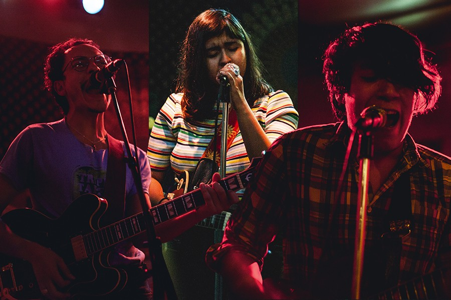 Artists performing at the first Demolición in October 2016, from left: Divino Niño guitarist Camilo Medina, singer-songwriter Mia Joy, and Bruised guitarist Vertin Alejandre - ALL PHOTOS BY ELMER MARTINEZ