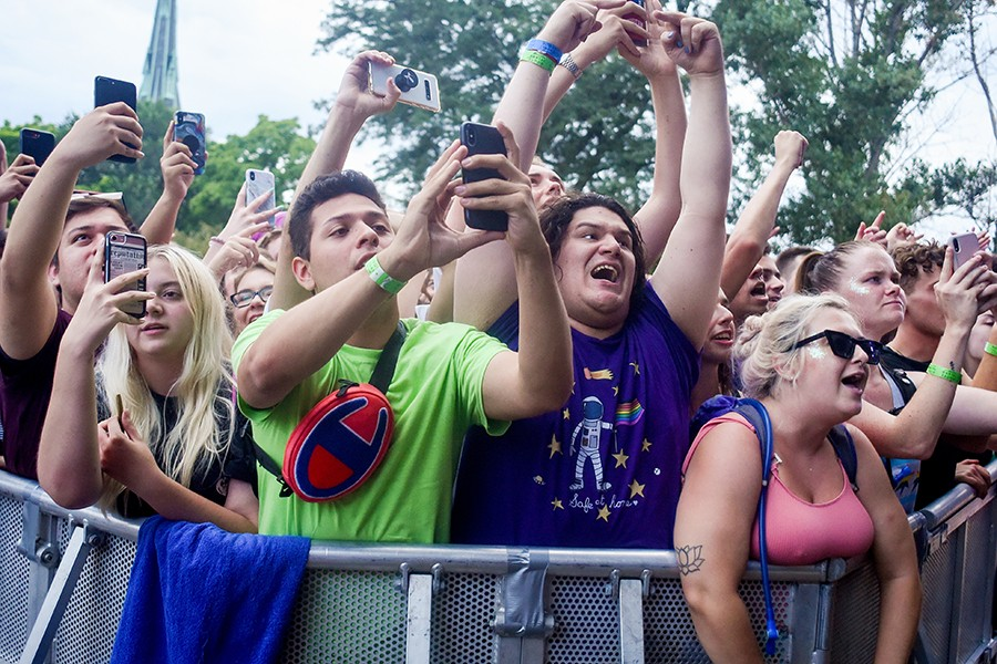 Part of the front row during Charli XCX's set - KATHLEEN HINKEL