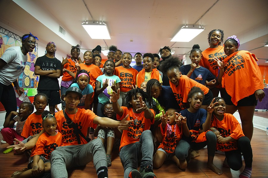 At Empiire's dance studio on July 26 for the last day of the Circle Up camp - WILLS GLASSPIEGEL