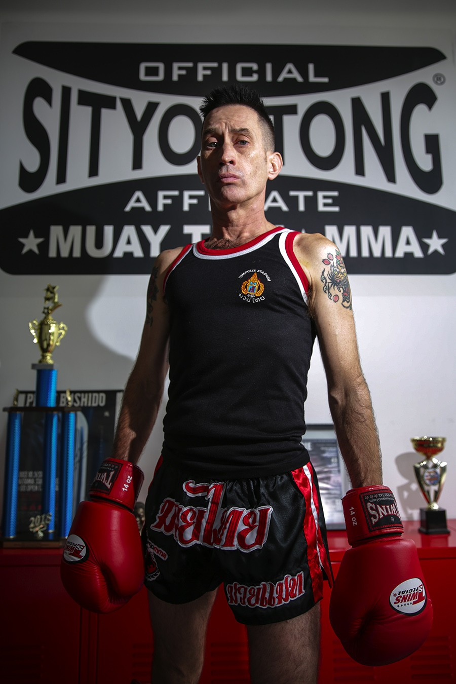 """Rob Nelson, 52, Chicago MMA - """"This has allowed me to prove that your body is amazing if you treat it right and it will recover amazingly. Age is just a number. Get off the fence. You can't do anything if you don't try. The worst that can happen is you don't like it. The best is you find a new passion in your life. I hear people, 'Well, I'm going to get in shape before I try' or 'I've got to do this before.' How about you just show up and let go and be where you are, no matter where you are, and see how you like it? Maybe you're only going to do it for conditioning and training and for fun. That's fine. Maybe you fall in love and you become more committed and you want to compete. That's fine, too. Whatever it is, it's fine, but you won't know until you try. And, if you have an interest, check it out."""" - GEOFF STELLFOX"""