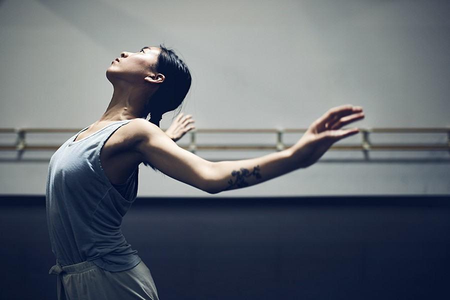 """With a drive to perfect technique, Connie Shiau of the Hubbard Street Dance Company pushes herself physically and mentally to achieve her high standards. Her hope is """"that dance can become a bigger communicative vessel in this society to unite people."""" - MAX THOMSEN"""