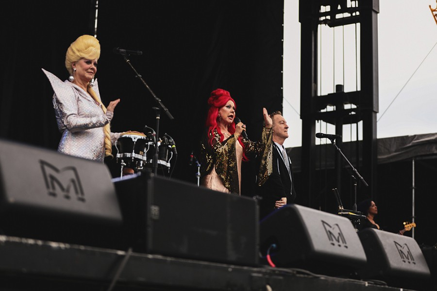 Cindy Wilson, Kate Pierson, and Fred Schneider of the B-52s - KRIS LORI