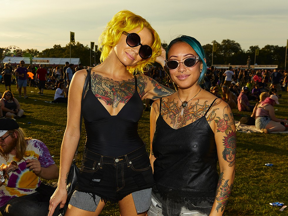Jessica and Darja flew from Los Angeles to be at Riot Fest. - RYAN SEGEDI