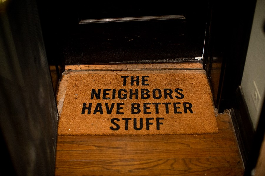 After experiencing a burglary, Hardy, who lives in a part of the building with several apartments owned by absentee landlords, bought a new doormat. - KRISTEN NORMAN FOR CHICAGO READER