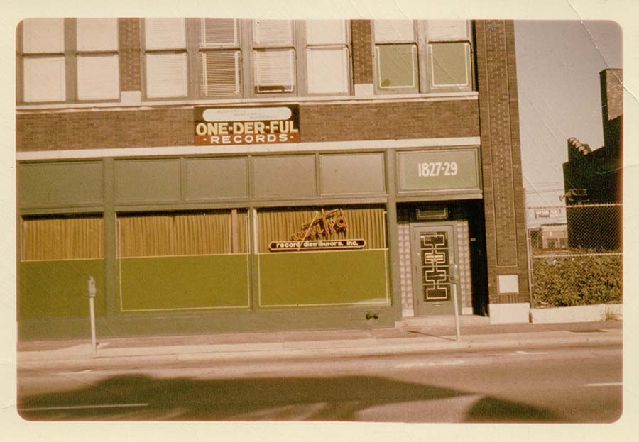 The same building in the 1960s, when it was home to One-derful and United Record Distributors - COURTESY SECRET STASH RECORDS