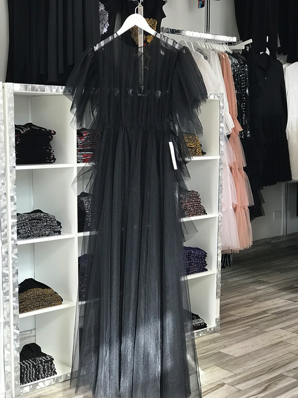 Black tulle dress ($195) - ISA GIALLORENZO