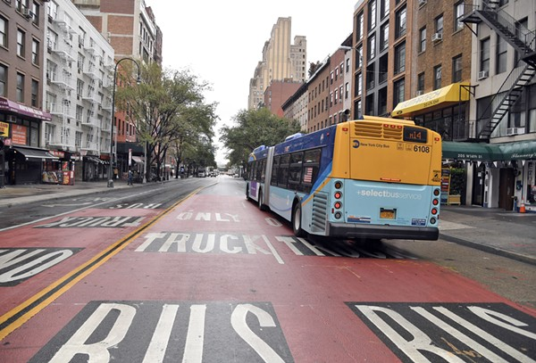New York City's new 14th Street Busway has improved bus travel times up to 47 percent. - MARC A. HERMANN / MTA NEW YORK CITY TRANSIT