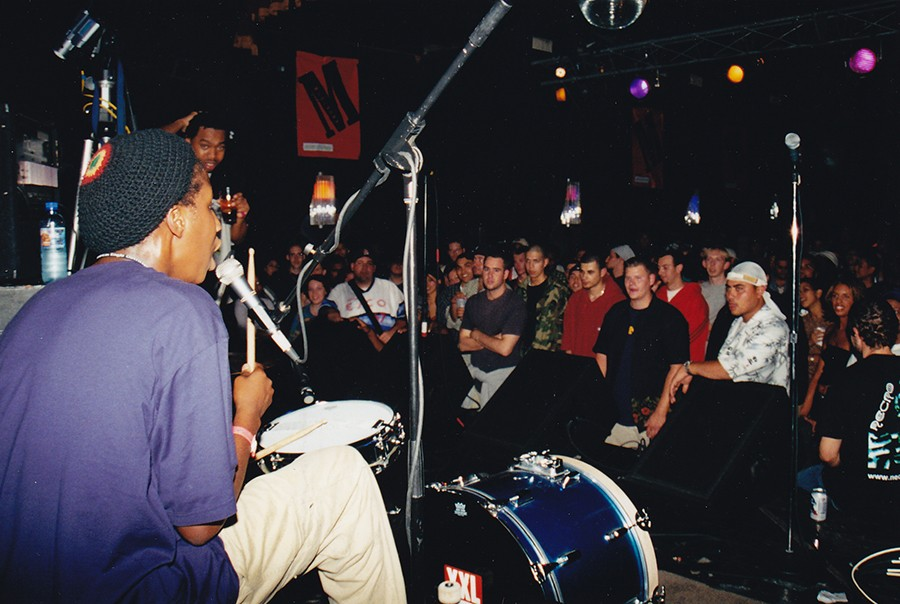 Iomos Marad (on drums) and Blue Groove host Dirty MF at Double Door - COURTESY JESSE DE LA PEÑA