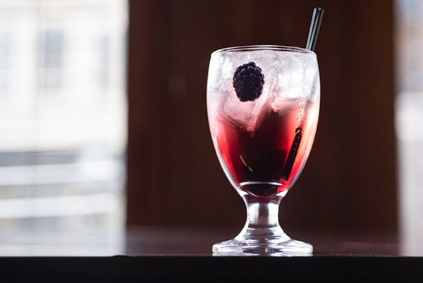 One of the cocktails built around Serbian fruit brandies; this one features King Zebra, quince brandy, gin, blackberry wine, simple syrup, and lemon. - MATTHEW GILSON FOR CHICAGO READER