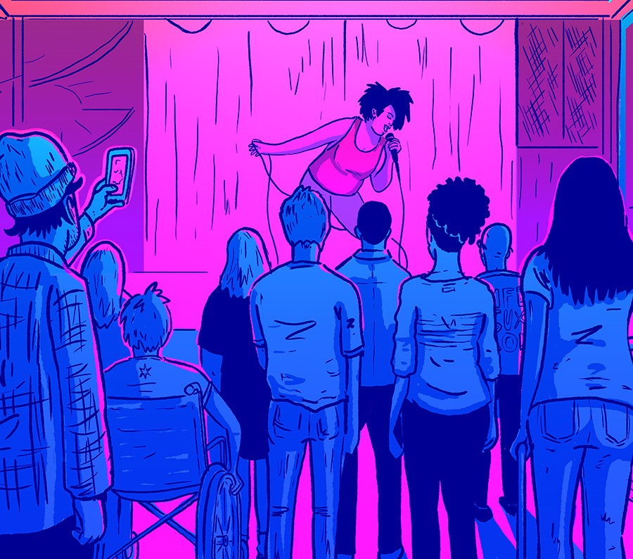 If a venue is accessible to the standard of the law but still excludes certain people under certain circumstances, then for those people the venue is inaccessible. - ILLUSTRATION BY FRANK OKAY