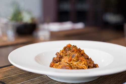 Tajarin ragu at Osteria Langhe, like an edible security blanket - ANTHONY SOAVE