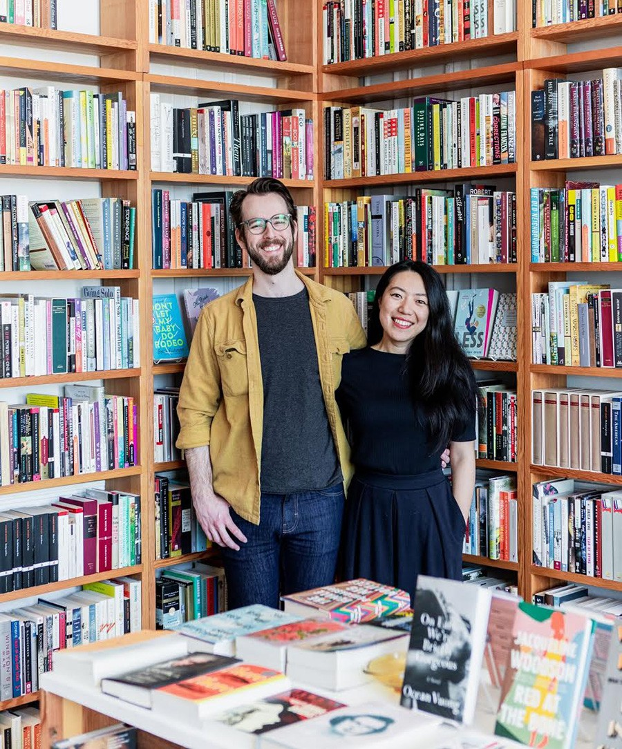 Peter Hopkins and Heidi Zheng at the Dial - COURTESY THE DIAL BOOKSHOP