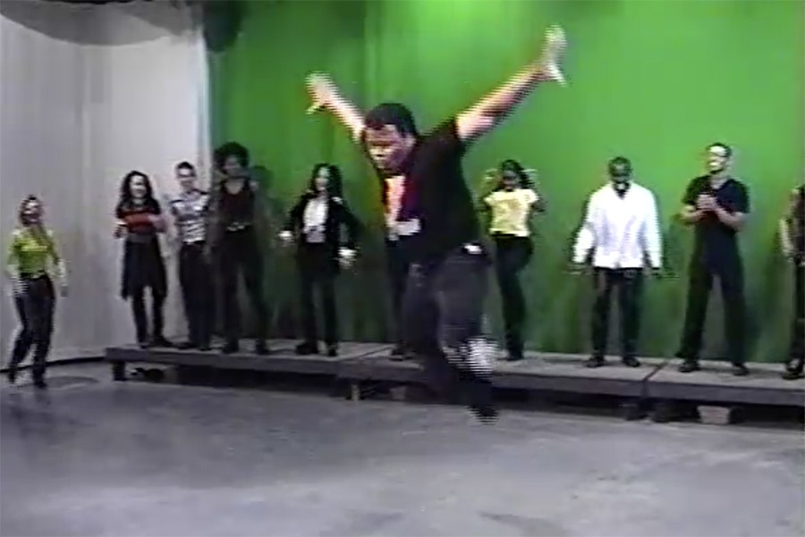 """Melvin """"the Alexander"""" Dunlap showing off his moves in 1997 - COURTESY ANDREW KITCHEN AND MELVIN DUNLAP"""