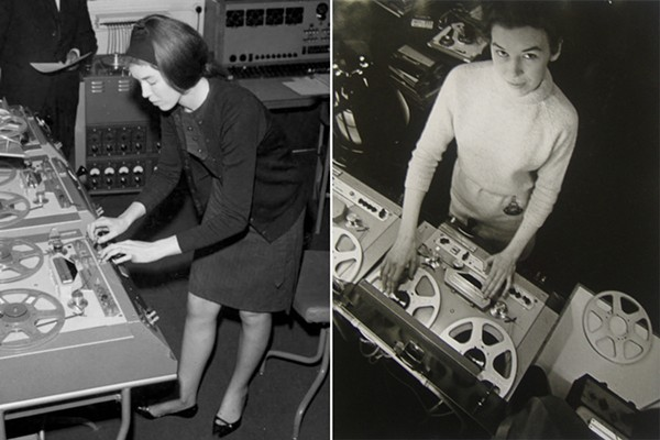 Delia Derbyshire in the 1960s - IMAGES FROM WIKIDELIA.NET