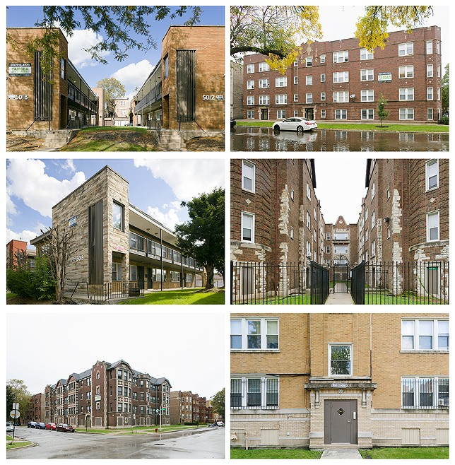 Most of Pangea's holdings are vintage apartment buildings in Black neighborhoods on the south and west side. In some areas the company owns most or all of the mid-sized buildings on a block. - TRAVIS ROOZÉE