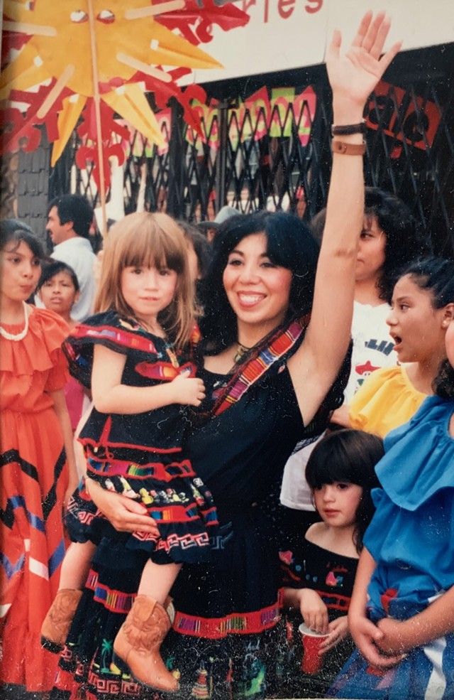 Emma Lozano holds her daughter Joline, as Tanya stands to her right - COURTESY TANYA LOZANO