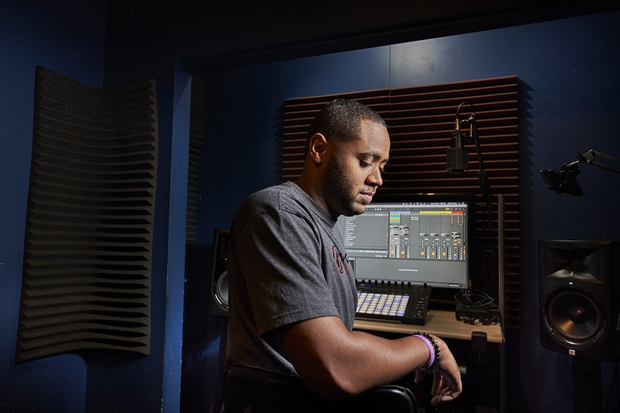 Insomniac apprentice engineer Low, also known as DJ James - MATTHEW GILSON FOR CHICAGO READER