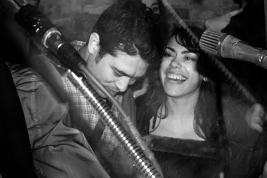 Alejandro Morales and Nicole Miller of Piss Piss Piss Moan Moan Moan at Bbigg Fforeverr on New Year's Eve 2012 - KARINA NATIS