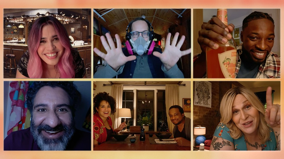 The characters on Connecting . . . solely interact on Zoom-like video chat. - NBC